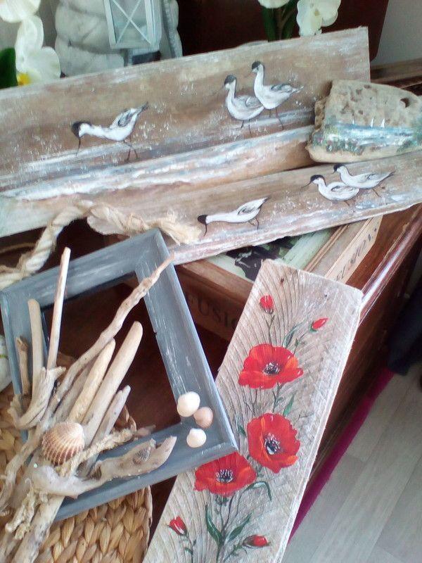 B schutten artiste peintre for Peinture sur bois flotte